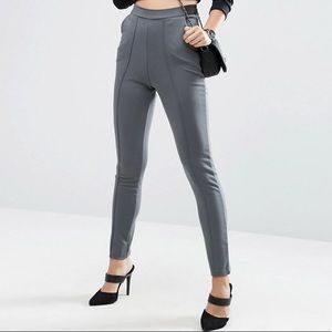 Cigarette Trousers with Seaming
